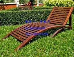 沙滩椅 实木沙滩椅 护栏沙滩椅 滑轮沙滩椅