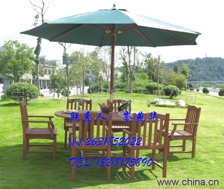 實木五件套桌椅 園林桌椅 庭院別墅戶外桌椅 泳池邊桌椅 2