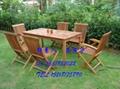 實木五件套桌椅 園林桌椅 庭院別墅戶外桌椅 泳池邊桌椅 4
