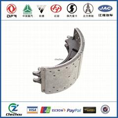 China best saling top quality semi metal ceramic brake shoe assembly