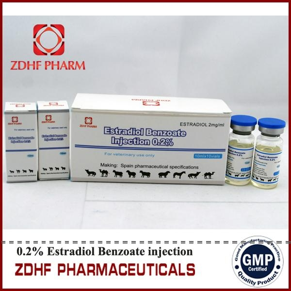 animal hormons estradiol benzoate injection in cattle horses  1