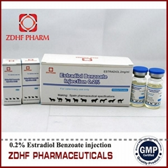 animal hormons estradiol benzoate injection in cattle horses