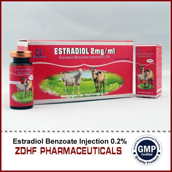 animal hormons estradiol benzoate injection in cattle horses  4