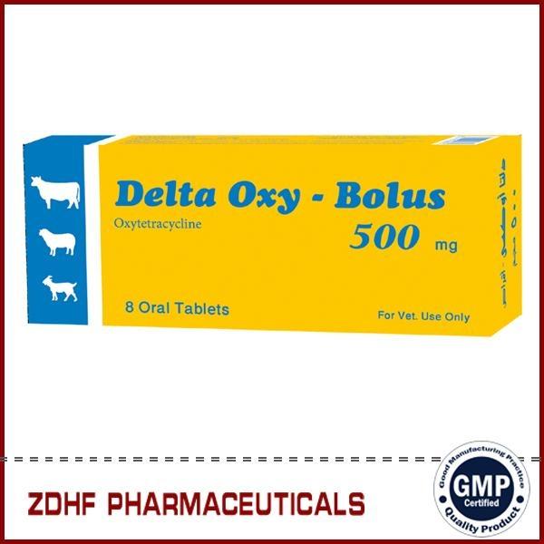 Veterinary Antibiotic agent Oxytetracycline bolus 500mg 1