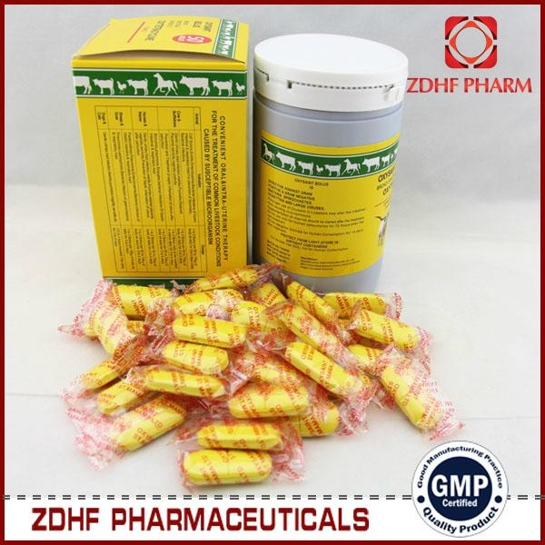 Veterinary Antibiotic agent Oxytetracycline bolus 500mg 3