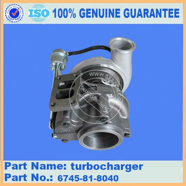 Komatsu excavator engine spare parts of PC300-8 turbocharger 6745-81-8040 1