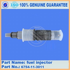 Komatsu excavator replacement part of PC240-8 fuel injector 6754-11-3011 nozzle