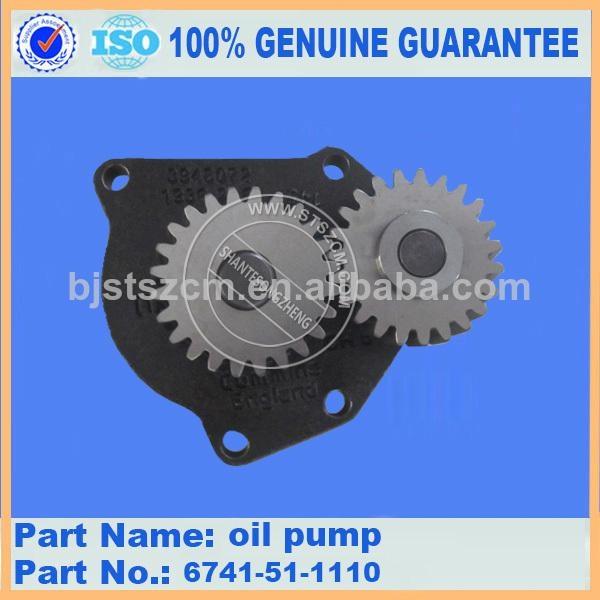 KOMATSU reparing part of PC300-7 SAA6D125E-5F-02 engie oil pump assy 6741-51-111 1