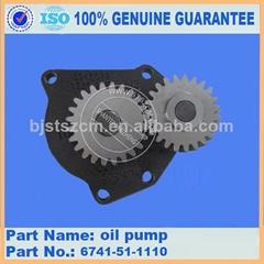 KOMATSU reparing part of PC300-7 SAA6D125E-5F-02 engie oil pump assy 6741-51-111
