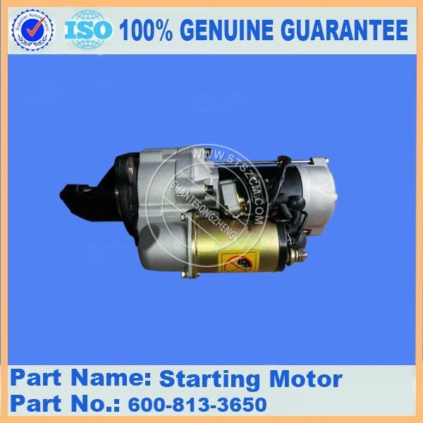 Komatsu loader engine parts WA420-1 600-813-4650/600-813-3650 engine start motor 1