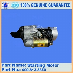 Komatsu loader engine parts WA420-1 600-813-4650/600-813-3650 engine start motor