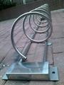 高脚不锈钢螺旋式自行车停车架