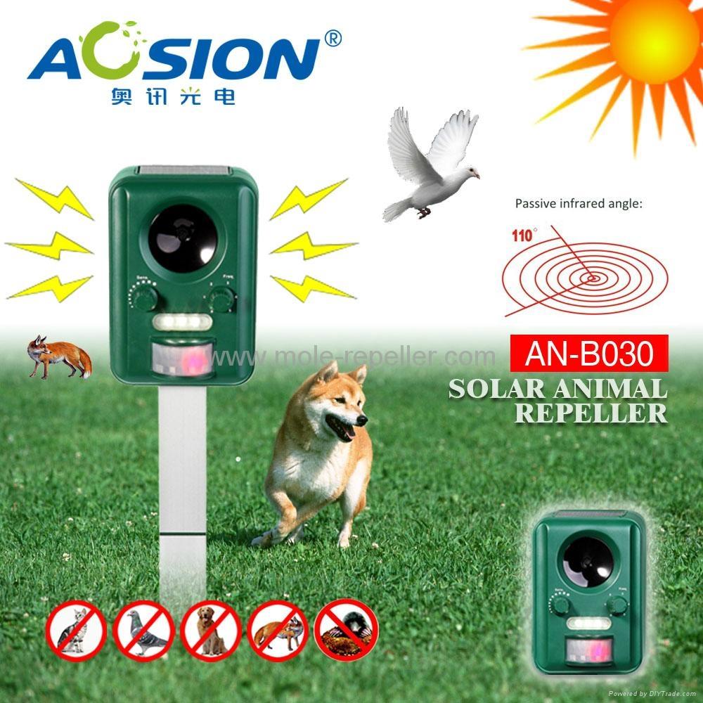 Solar powered frequency ultrasonic bird repeller 4