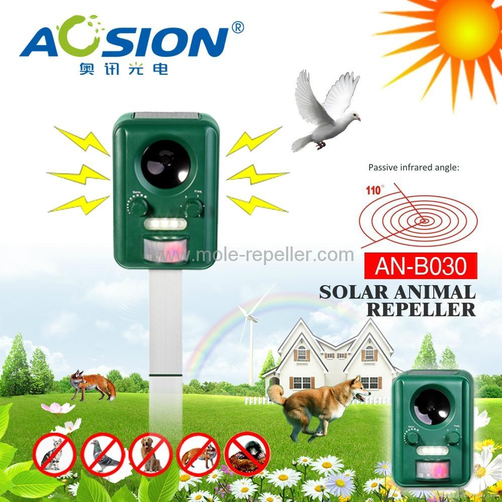 Solar powered frequency ultrasonic bird repeller 2