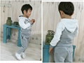 Baby boy Suits 2pc Hoody Coat+ Pants Letter Sporty Baby Clothes Set 90-130cm 3