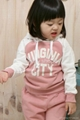 Baby Girl Suits 2pc Hoody Coat+ Pants Letter Sporty Baby Clothes Set 90-130cm 2