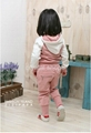 Baby Girl Suits 2pc Hoody Coat+ Pants Letter Sporty Baby Clothes Set 90-130cm 3