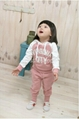 Baby Girl Suits 2pc Hoody Coat+ Pants Letter Sporty Baby Clothes Set 90-130cm 4