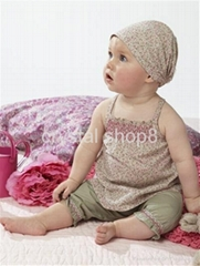 Baby suit/Hot selling sets:3/Baby set:tops+ shorts+headband/Lovely New designs