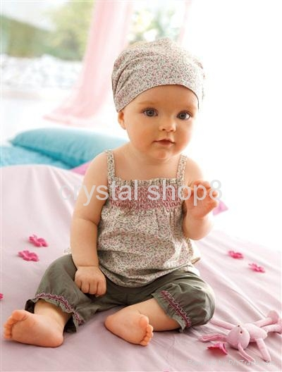 Baby suit/Hot selling sets:3/Baby set:tops+ shorts+headband/Lovely New designs 2