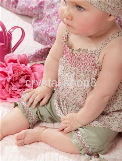 Baby suit/Hot selling sets:3/Baby set:tops+ shorts+headband/Lovely New designs 3