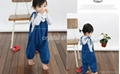 2 pcs  Striated T skirt + suspender pant ( very nice and lovely baby suit) 4
