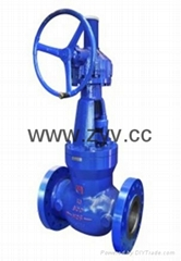 ANSI Wc9 Flange Globe Valve with Worm-Operated
