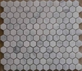 Hexagon honed or polished carrara white marble mosaics