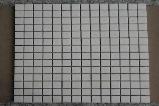 square White Thasso Marble Mosaic Tiles 1