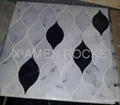 Italy carrara marble waterjet with