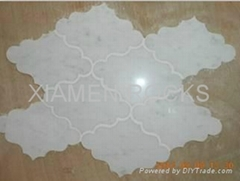 marble waterjet with different shapes as  customer like