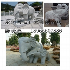 花岗岩石雕大象