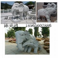 花崗岩石雕大象
