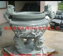 青石石雕香炉