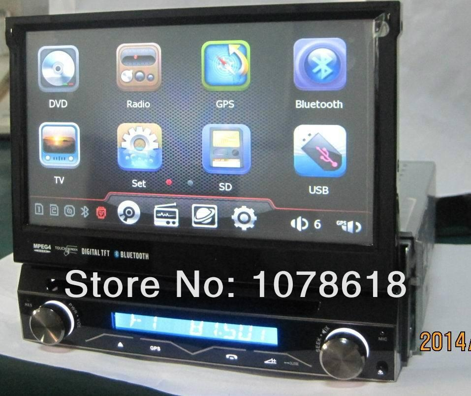 7 inch 1 din dvd GPS player with removable front panel Navigation Units car gps  1