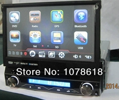 7 inch 1 din dvd GPS player with removable front panel Navigation Units car gps