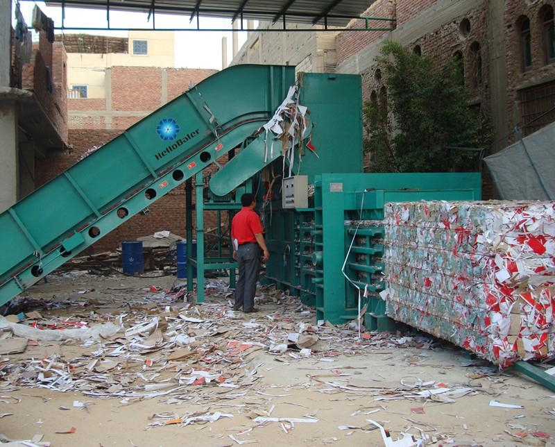 Semi-automatic hydraulic waste paper baling machine - HSA4-7