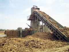 high capacity horizontal straw baler