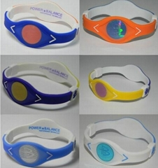Dual Color Power Balance Splicing Bracelet Games wristbands with Retail Box