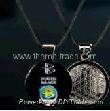 Power Balance Necklace Zinc Alloy Pendants