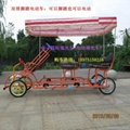Hot!two persons sightseeing bike