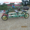 4 people rickshaw bike self-driven pedal