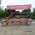 4 person four wheel quadricycle surrey electric sightseeing car