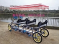 Most comfortable 4 four wheels bicycle/surrey bike for lovers/four wheel bike