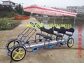 Quadricycle Family Pedal Tandem Surrey Bike 4 Seater Bike Sale