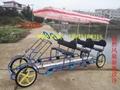 Quadricycle Family Pedal Tandem Surrey Bike 4 Seater Bike Sale