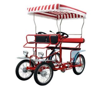 Holiday Resort Passengers Pedal Bicycle 2 Seater Four Wheeler Bike