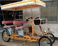 Beach Rental Surrey Bike Quadricycle Tandem Bike Four Wheels Bicycle for 4 Peopl