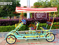Hot Selling 2 Person and 4 Person Quad Surrey Bike Tandem Bike Four Seat Bicycle