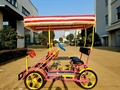 Holiday Resort Passengers Pedal Bicycle 2 Seater Four Wheeler Bike